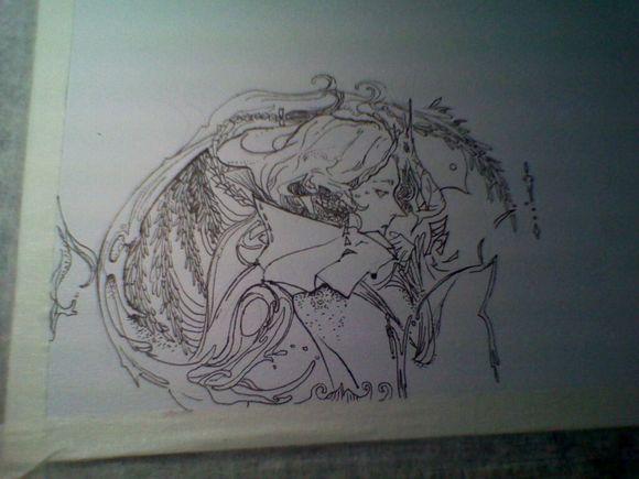 这里加一,虽然是算临摹的.擅长素描,喜欢装饰(创意)画.图片