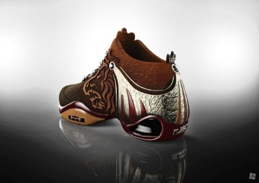 """『君临天下』为庆祝勒布朗詹姆斯夺冠,概念鞋型""""king图片"""
