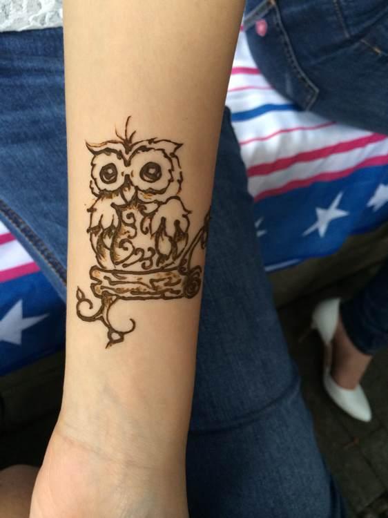 印度海娜手绘纹身,一次性纹身暂时性纹身图片