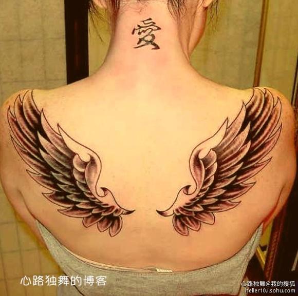 女生背上适合纹什么纹身图案