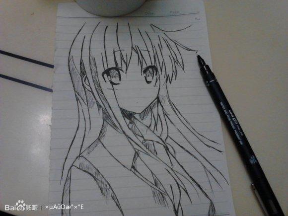 椎名真白手绘原图教程