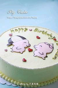 小猪佩琪的蛋糕图片