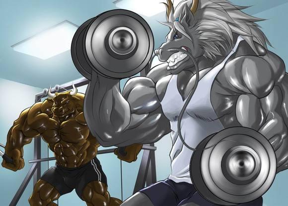 肌肉兽人图片
