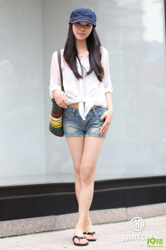 杭州街拍时尚美女