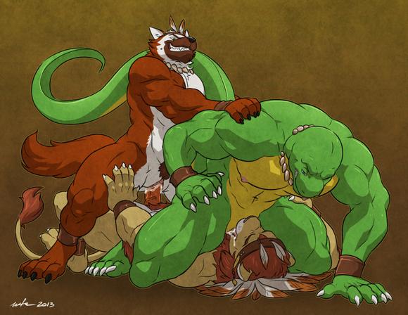 肌肉兽人漫画
