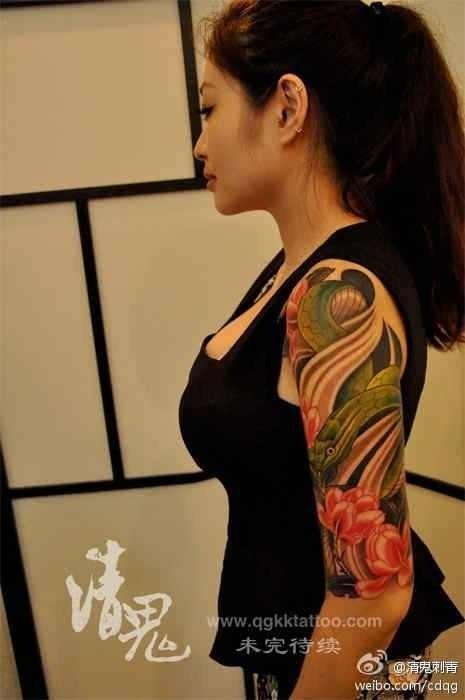 ... 牡丹纹身_蛇纹身手稿_蛇图腾纹身_衔尾蛇纹身_蛇纹身