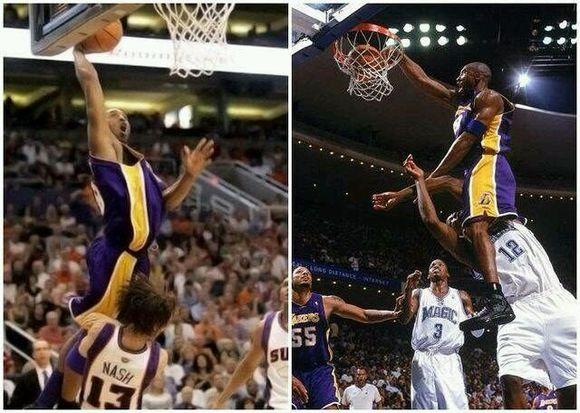 多图流 科比骑扣霍华德,NBA这波庆祝简直666图片