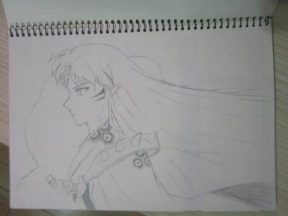 古代美女背影铅笔画