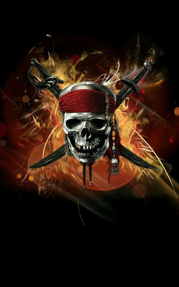 加勒比海盗骷髅头图片