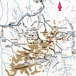 南迦•帕尔巴特峰所在位置图