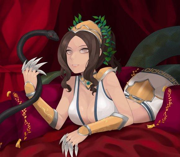 变身蛇女的漫画
