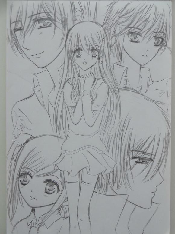 漫画女生脸型画法