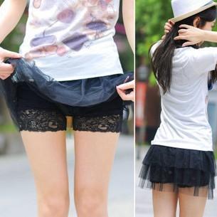 短裤配安全裤