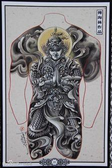 牛魔王纹身满背手稿分享展示图片