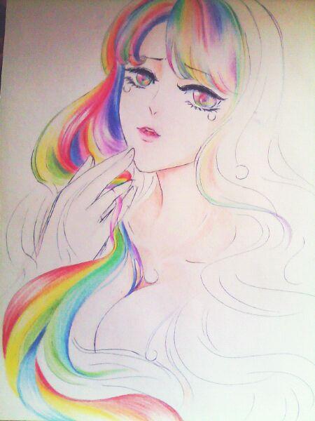 七彩头发玛丽苏图片展示