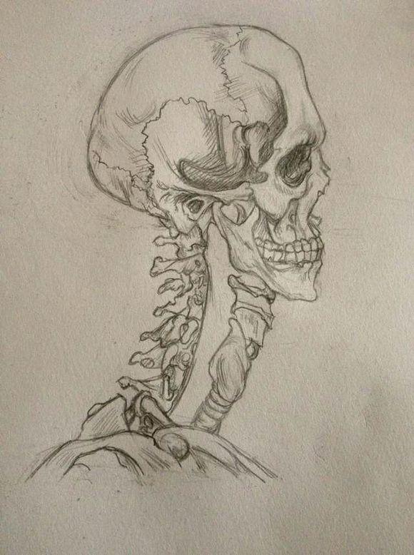 鱼骨架纹身图片图片