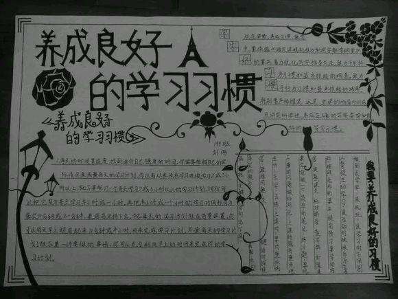 【展示】二次元手抄报图片