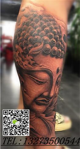 包小腿佛像纹身手稿分享展示图片