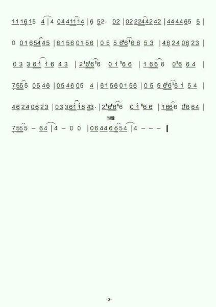 24孔c调复音口琴,求《 小幸运 》 简谱图片