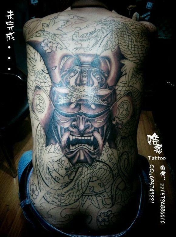 苏州纹身雅痞刺青##苏州纹身名店##纹身分享#  满背鬼武士图片