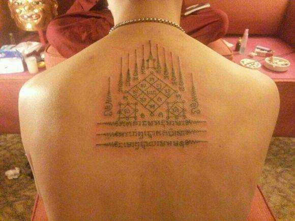 泰国莲花刺符纹身分享展示图片