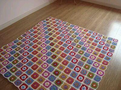 钩针编织毛线漂亮毯子