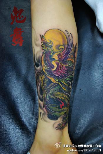 龙凤呈祥半甲纹身手稿分享展示图片
