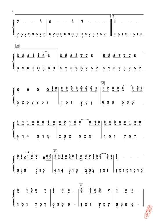 venica°〓150218资源〓妮卡自译钢琴版《不再见》谱子图片