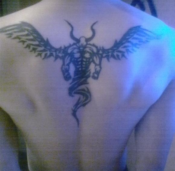 关公降邪龙纹身图片展示图片