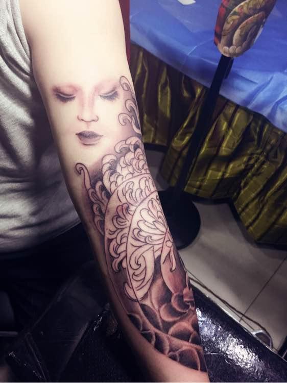 小臂艺妓般若_纹身吧_百度贴吧图片
