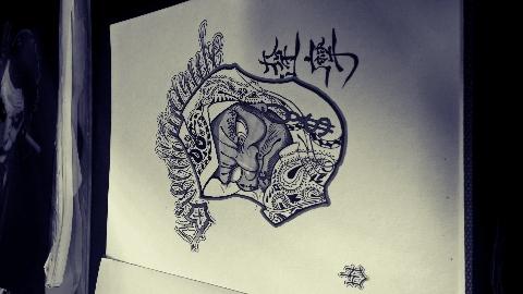 花体字及手稿设计贴_纹身吧_百度贴吧图片