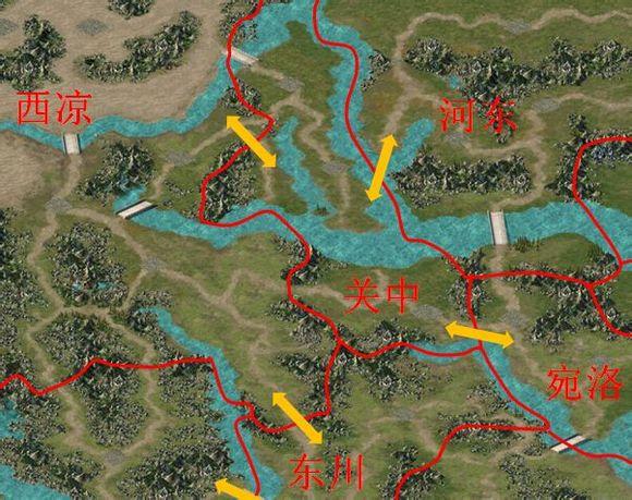 群7大地图山河地理划分,附各地区关隘渡口参考图片