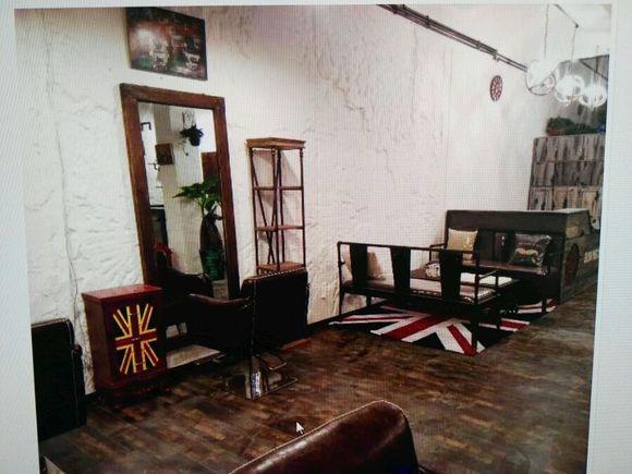 欧美风怀旧复古理发店美发店砖墙图片