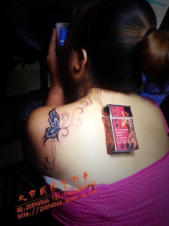 社会女孩纹身手机壁纸全屏分享展示图片