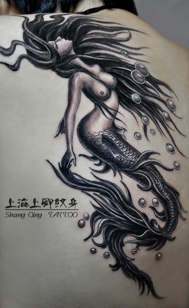 美人鱼纹身图片