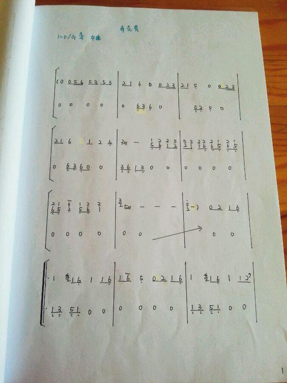 有没有青花瓷古筝曲谱图片