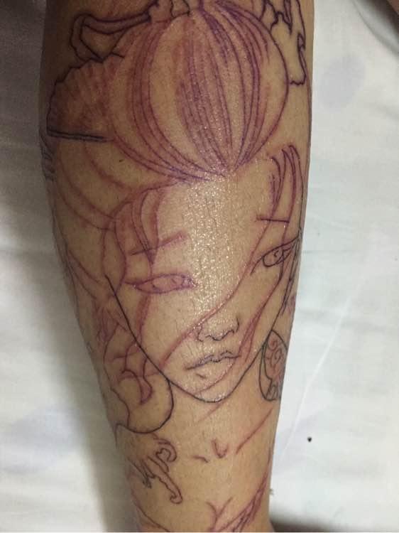 纹身图案 板雾花纹身手稿 > 纹身-刺青  纹身-刺青 (3456x5184)图片