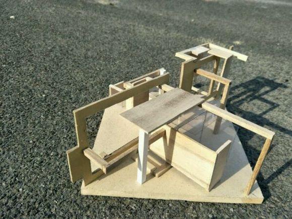 立体构成,建筑模型作业.