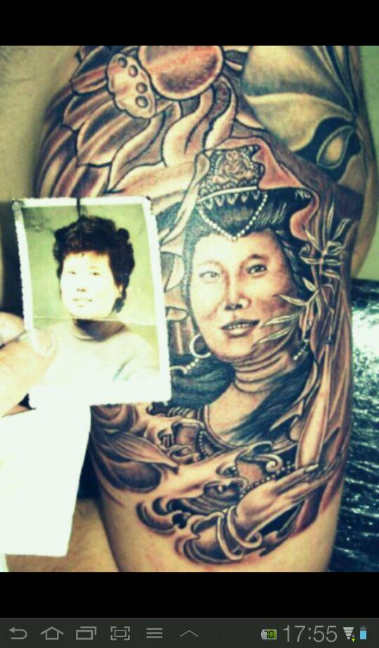 纪念去世的母亲纹身分享展示图片