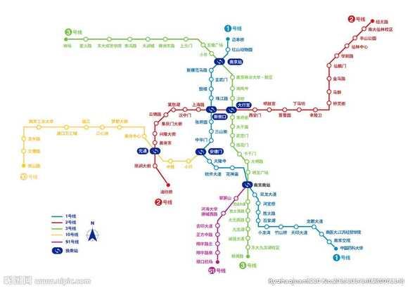 南京地铁线路图图片