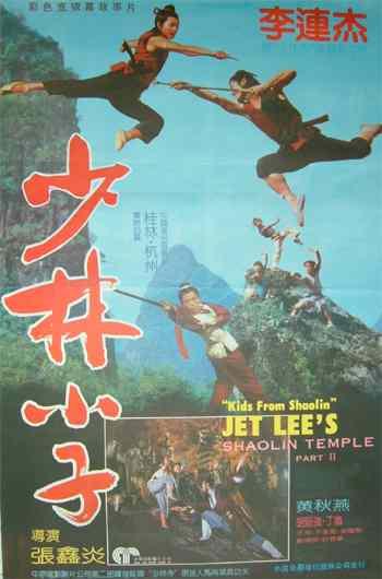 《少林小子》也有李连杰和黄秋燕主演图片
