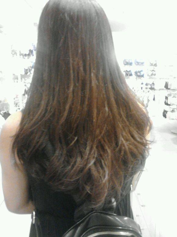这是我现在的头发,准备去软化,不想要烫发了.图片