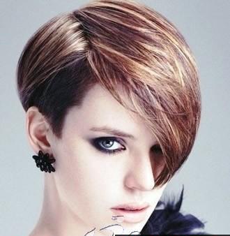 托尼盖发型图片 女生短发发型图