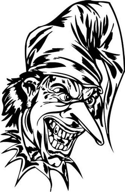 小丑哭笑面具纹身手稿分享展示图片