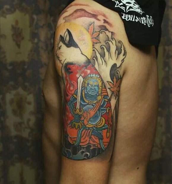 一款超酷的冥王哈迪斯纹身图案图片