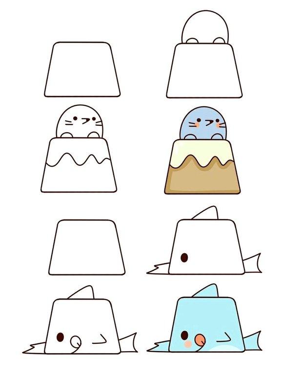 【图片】梯形动物【简笔画吧】_百度贴吧图片