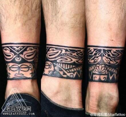 脚环纹身图案大全图片