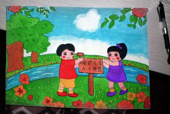 关于校园的儿童画-关于校园的水彩画/儿童画画大全简单漂亮/关于校园图片