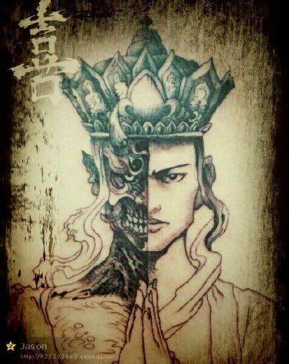 半魔半佛纹身图片壁纸分享展示图片