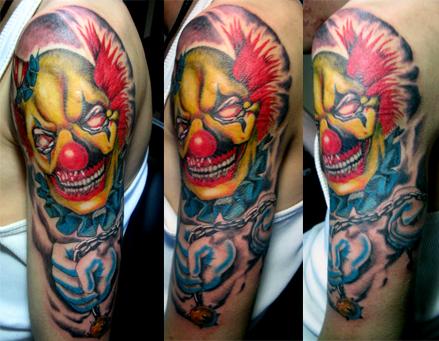 纹身素材专题贴(62).小丑图片
